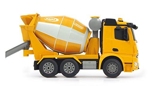 RC Auto kaufen LKW Bild 4: Jamara 404930 - Betonmischer Mercedes Arocs 1:20 2,4GHz – rechts / links drehende Mischtrommel mit Entladefunktion, realistischer Motorsound,Hupe,Rückfahrwarnsound,4 Radantrieb,gelbe LED Signallichter*