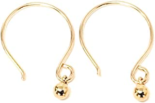 Tiny Ball Hoop Earrings 14kt Yellow Gold-filled