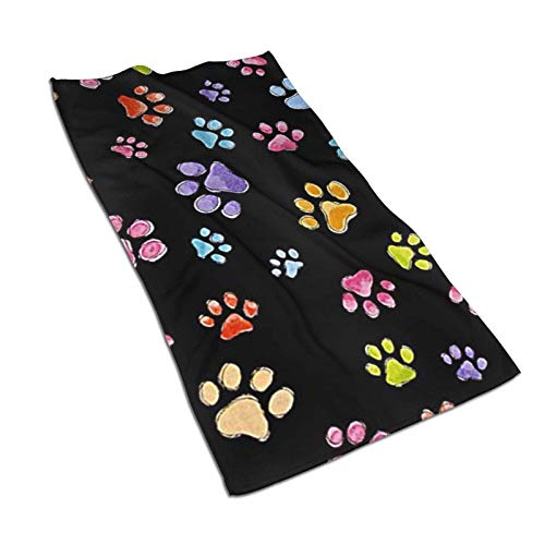 XCNGG Dog Gone Pawful Paws Toalla de Cocina Toallas de Mano Personalizadas Toallas de Plato Impresas absorbentes Toalla de Microfibra para Gimnasio Toalla de té Toalla para Dedos 27.5x15.7in