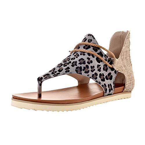 MoneRffi Mujeres Sandalias Planas Sandalias Casuales Zapatos de Verano Mujeres Peep Toe...