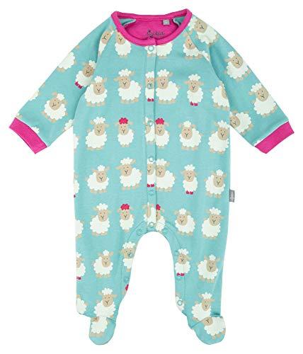 Sigikid Baby-Mädchen Overall Schlafstrampler, Mehrfarbig (Blau 755), 62 (Herstellergröße: 062)