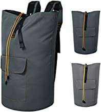 Chrislley 115L Extra Large Laundry Bags Backpack Laundry Hamper Backpack Collapsible Laundry Bag for College Dorm Hanging Laundry Hamper Bags with Adjustable Shoulder Straps ( Dark Grey,XL )
