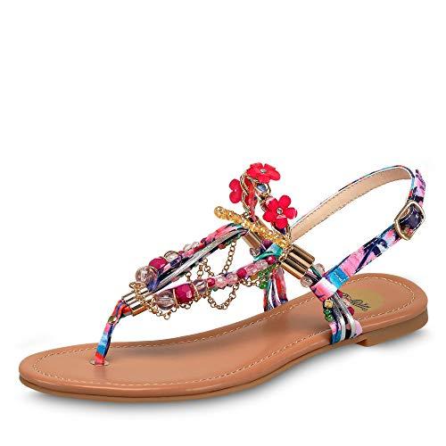 Buffalo Shoes Damen 313560 Zehentrenner, Mehrfarbig (PURPLE 97), 37 EU