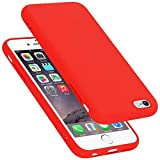 Cadorabo Funda para Apple iPhone 6 en Liquid Rojo - Cubierta Proteccíon de Silicona TPU Delgada e Flexible con Antichoque - Gel Case Cover Carcasa Ligera