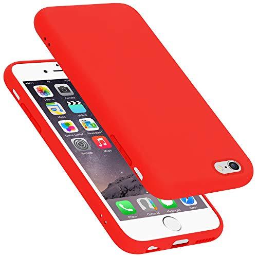 Cadorabo Custodia per Apple iPhone 6 in LIQUID ROSSO - Morbida Cover Protettiva Sottile di Silicone TPU con Bordo Protezione - Ultra Slim Case Antiurto Gel Back Bumper Guscio