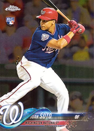 2018 Topps Update Chrome Baseball #HMT55 Juan Soto Rookie Card