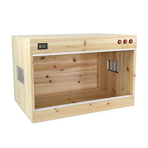 Vivarium de mascotas La jaula de la caja de cría de reptiles, hecha de madera maciza, se puede usar para transportar animales con seguridad, hábitats para anfibios e invertebrados Caja de cría de deco