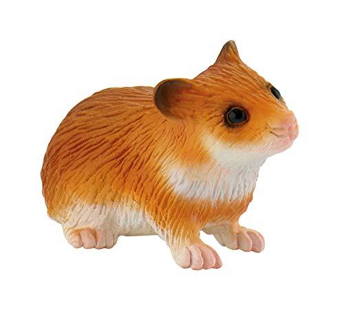 Bullyland 64610 Speelfiguur, Hamster, ca. 3 cm groot, liefdevol met de hand geschilderd figuur, PVC-vrij, leuk cadeau voor jongens en meisjes om fantasierijk te spelen.