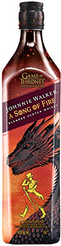 Johnnie Walker A Song of Fire – Blended Scotch Whisky, Haus Targaryen Game of Thrones Limited Edition, 70 cl, 40,8%