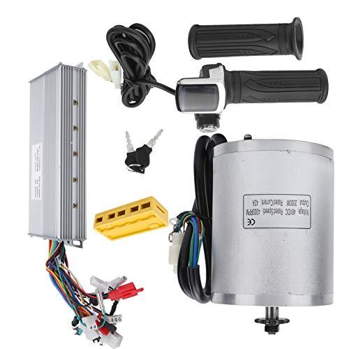 FEBT Kit de Controlador de Motor de Cepillo, Kit de Motor de Cepillo de 48 V 2000 W, Kit de Motor de 4300 RPM, para Pieza de Bricolaje de Bicicleta eléctrica Personalizada
