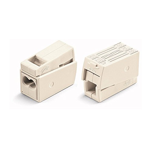 50x Wago 224-112 - Lechtenklemme - Lampenklemme - Dosenklemme - Verbindungsklemme - Steckklemme/Drückklemme - 3-fach - bis 2,5 qmm - weiß