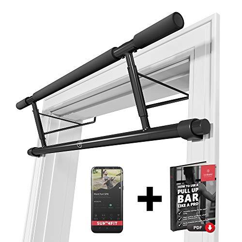 Barra de dominadas para marco de la puerta sin tornillos / taladro + guía de...