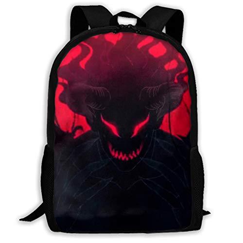 Hdadwy Anime Schwarzklee Asta 'S Teufel Bla Klee Tapisserie Rucksack Umhängetasche Reisetaschen Laptoptasche Schultasche Für Jungen Mädchen