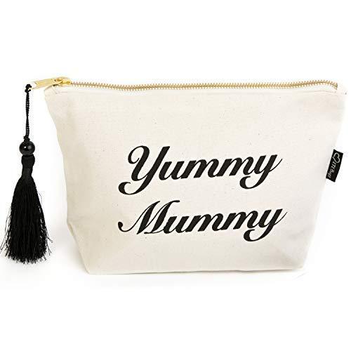 ' Yummy Mummy ' Crème Toile Maquillage Sac