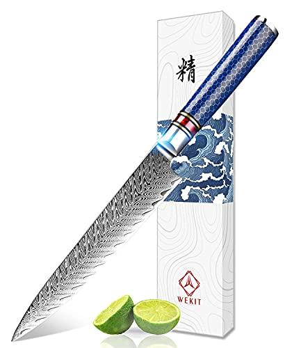 WEKIT Utility Paring Knife 6 Inch chef knife Japanese Damascus kitchen Knife Japanese VG10 Fruit...