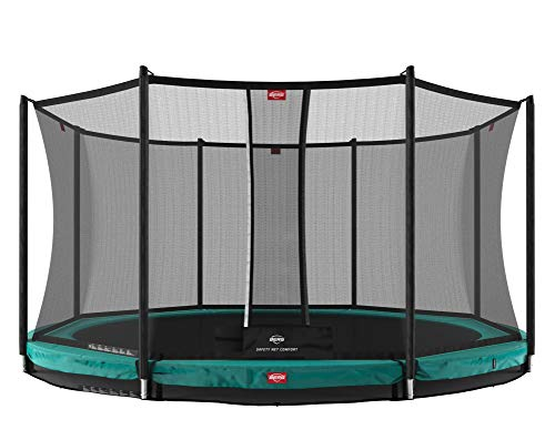 BERG Trampoline Inground Champion 11ft with Safety Enclosure Net Deluxe | Trampoline for kids, High Performance & Safety Features, Longer...