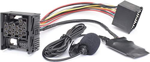 BlueMusic Bluetooth manos libres adaptador música compatible con: BMW E46 E39 E38 Rundpin 17pin Old Generation Radio