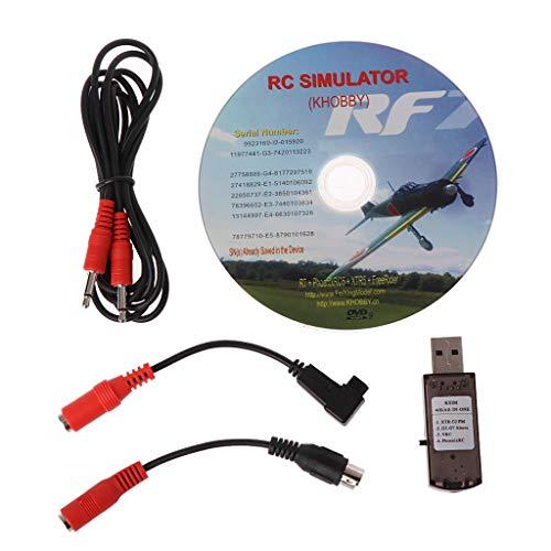 FXCO 22 In 1 RC USB Flugsimulator Mit Kabel Flugsimulator Für G7 Phoenix 5.0 Aerofly XTR VRC FPV Racing Flugsimulator