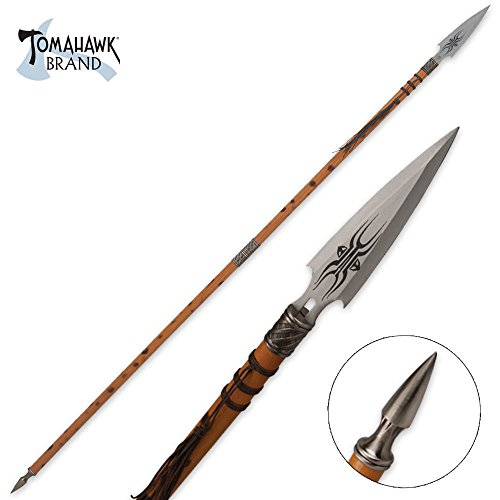Tomahawk African Wooden Warrior Spear