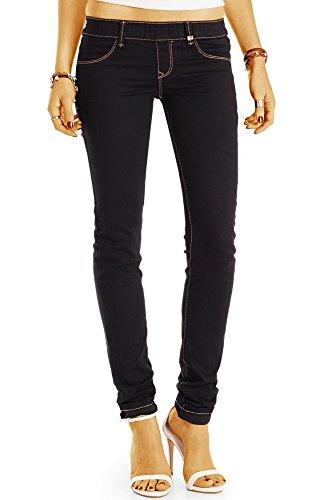 bestyledberlin Damen Baumwoll Stoffhose, Skinny Fit Stretch Hose, Denim Leggings j18l 42/XL