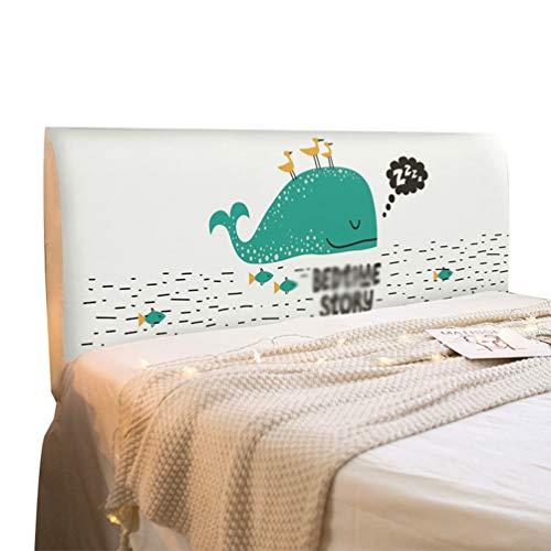 LaoZan Cubierta Antipolvo Cubierta De Cabecera De Dormitorio Cubierta De Polvo Elástica con Todo Incluido Cubierta De Protección De Cabecera (Estilo 2,(50-65)*200cm)