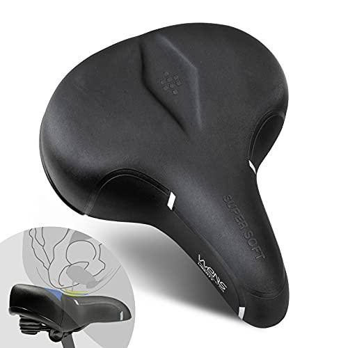 Sella per Bici, Sella Bicicletta Uomo Donna [City Bike-Trekking] Sella per Bici Anatomica, Ergonomica con elastomeri, Super Comoda Super Soft Effetto Gel - Modello Liberty