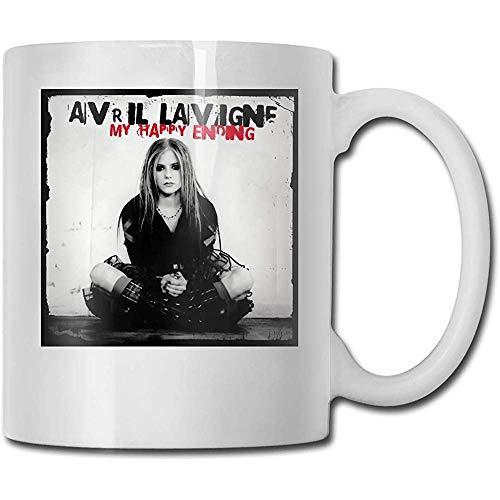 Avril Lavigne Mein Happy End Beste Geschenkideen zum Vatertag für Kaffeetassen Lustige Geschenkbecher Persönlichkeit Trinkbecher 11 Unzen (330 ml)