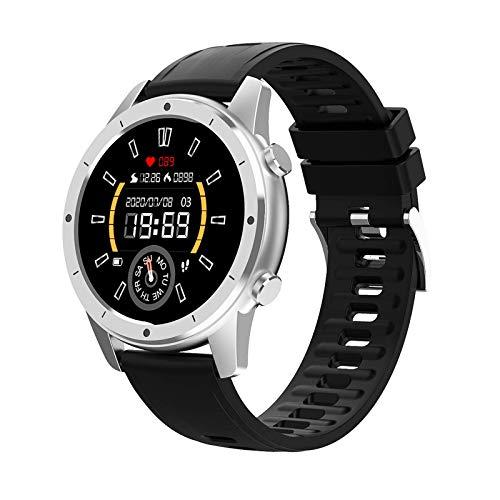 ZHENAO Pulsera Inteligente 1.28 Pulgadas Llamada Bluetooth Custom Dial Sports Pedómetro a Prueba de Agua Reloj Exclusivo/Plata