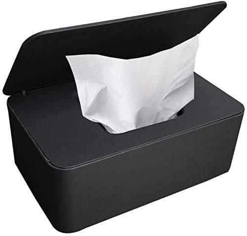 SunAurora Caja para Toallitas Húmedas,Dispensador de Toallitas Húmedas Bebe con Tapa para Oficina en Casa (Negro)