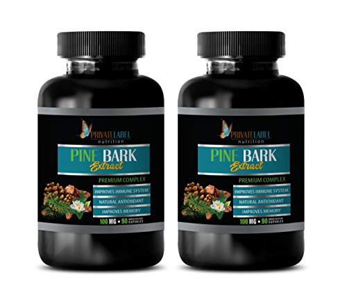Immune System Support Dietary Supplement - Pine BARK Extract - Premium Complex - Digestion Support Supplement - 2 Bottles 120 Softgels