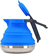 Collapsible Camping Kettle For Hiking, Travel & Outdoors 42 Ounce Capacity, Foldable & Heat Resistant