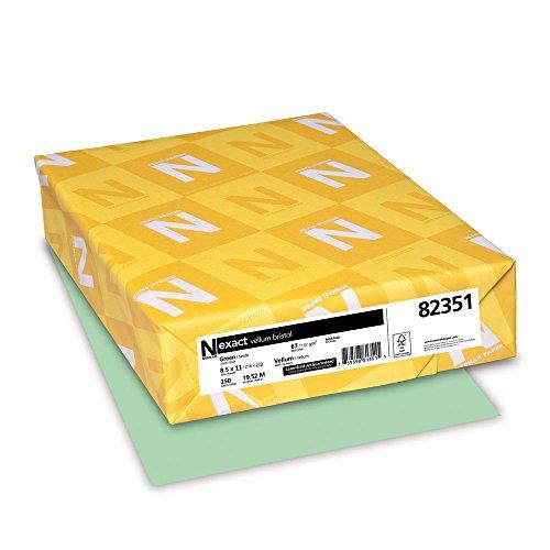 Wausau Paper 82351 Neenah Exact Vellum Bristol, 67 lb, 8.5 x 11 Inches, 250 Sheets, Green