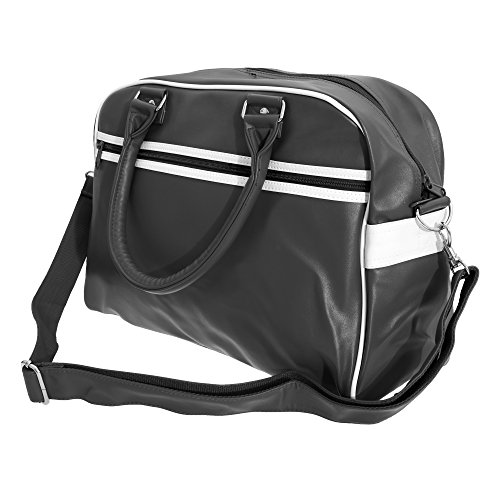 BagBase Original Retro Bowling Schultertasche (Einheitsgröße) (Schwarz/Weiß)