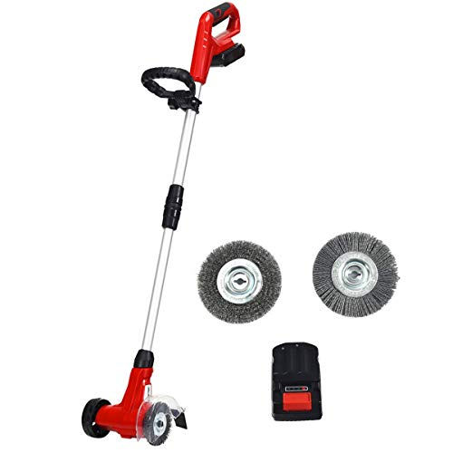COSTWAY Cordless Weed Sweeper, Electric Weed Cleaner with...