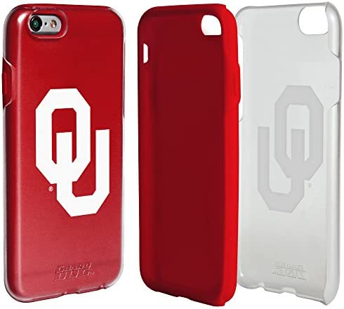 Guard Dog Collegiate Hybrid Case for iPhone 6 6s Oklahoma Sooners Clear with Red product image