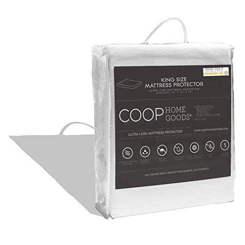Coop Home Goods Mattress Protector - 100% Waterproof, Hypoallergenic & Ultra Soft Breathable Bed Mattress Cover - Silent Mattress Pad Protection - Oeko-TEX Certified Lulltra Fabric - King