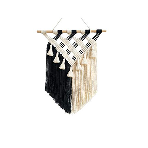"""Wall Hanging Decor Woven Wall Art Macrame Tary Boho Chic Home Decoration For Apartment Bedroom Nursery Gallery,13"""" W×19"""" L"""