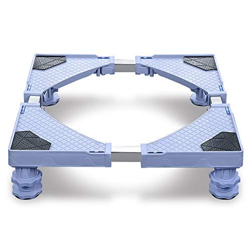 Podeste & Rahmen für Waschmaschinen Sockel Untergestell mit Multifunktionaler und Verstellbarer Möbelträger für Trockner, Waschmaschine und Kühlschrank(44-75cm)- 4Füße
