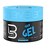 L3 - Hair Gel - Super Strong Hold - Flake Free - Long Lasting Shine - For Men and Women - Level 3...