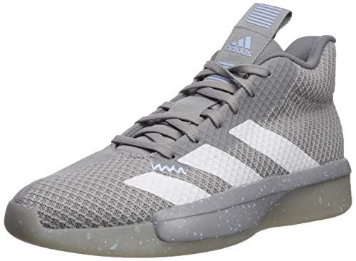 adidas Men's Pro Next 2019 Basketball Shoe, Light Onix/White/Glow Blue, 14 M US