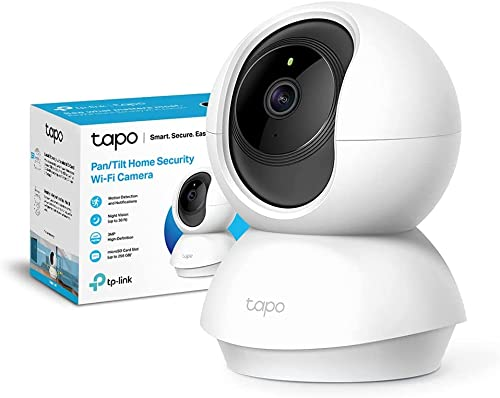 TP-Link TAPO C210 - Cámara VIgilancia 360°, Resolución 3MP, Visión Nocturna hasta 9 m, Audio Bidireccional, Detección Movimiento, Admite Tarjeta SD, Control Remoto, Compatible con Alexa