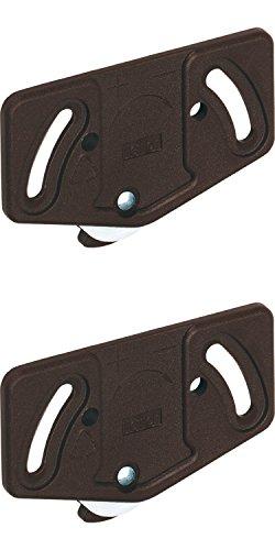 Gedotec Laufrollen Schiebetür-Laufwagen Schrank Laufteil Slide Line 55 für Schiebetür-System | Rollen für Laufschiene unten 15 kg | Kunststoff braun | 2 Stück - Laufwerk für Möbel-Schiebetüren