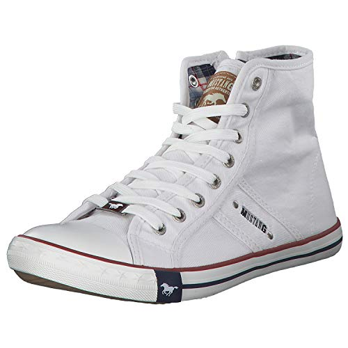 Mustang Herren 4058-504-1 Hohe Sneaker, Weiß (Weiß 1), 43 EU