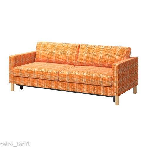 Unbekannt IKEA KARLSTAD BEZUG für 2er Sofa ohne Auszug in Husie orange Artnr. 002.546.95