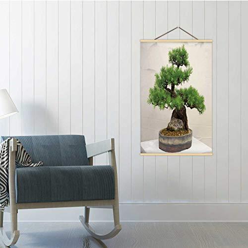 Hitecera Larch Bonsai Tree,Poster Plant Poster Frame 24x35in(WxH)