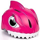 Casco de bicicleta infantil 3D Shark Animal para niños, niños y niñas, para bicicleta, scooter, monopatín y bicicleta, con certificado CE (49-55 cm) (rojo)