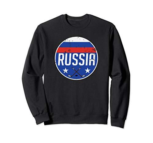 Russia Ice Hockey Flag Jersey Supporter Soviet Fan Gift Sweatshirt