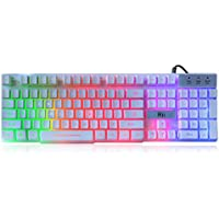Rii RK100+ USB Wired LED Backlit Gaming Keyboard
