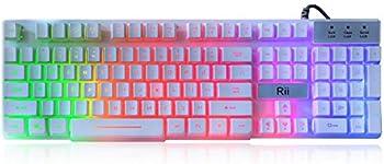 Rii RK100+ USB Wired LED Backlit Gaming Keyboard
