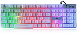 Rii RK100+ White Gaming Keyboard